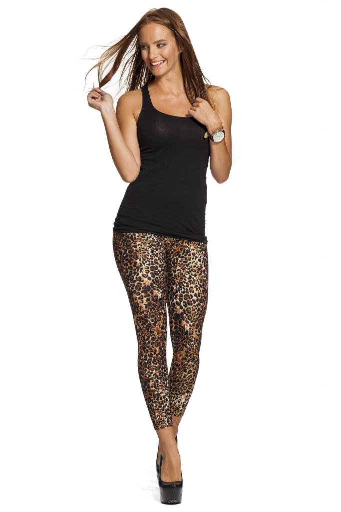 Snygga leggings med leopard mönster