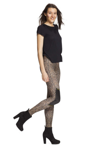 Leggings med leopard mönster