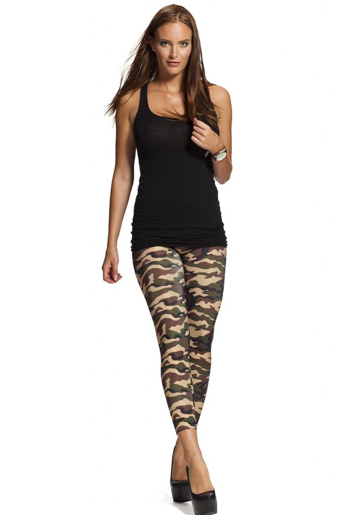 Leggings online med army camouflage mönster - alltid fri frakt !