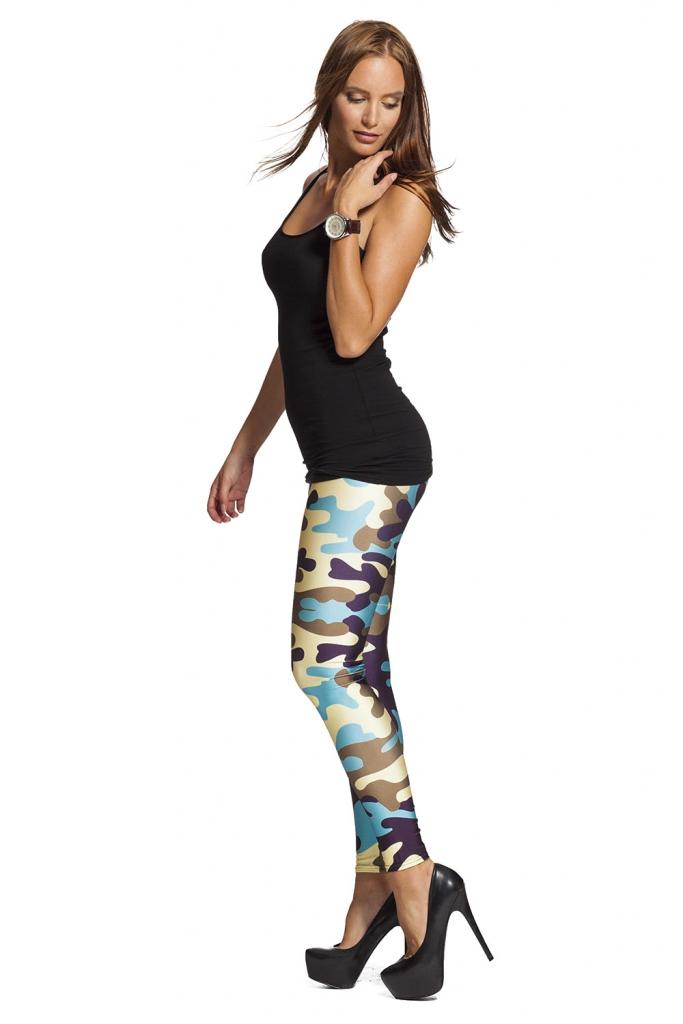 Leggings för sport med camouflage och army design - fri frakt hos LeggingStore.se online !