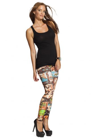 Leggings med grafitti - fri frakt online !