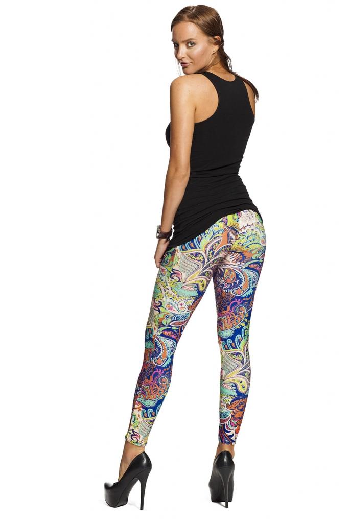 Snygga leggings med blommor online - fraktfritt !