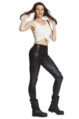 Leggings online i läderimitation !