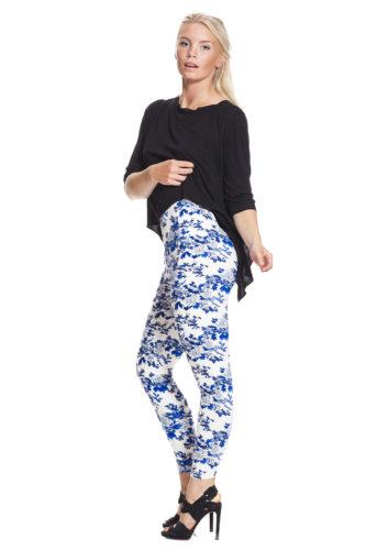 Blommiga leggings fraktfritt online !