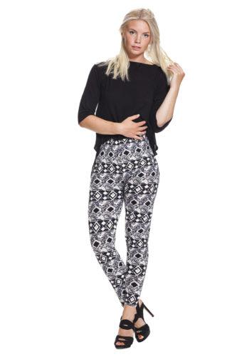 Grafiska legging i svartvit - fri frakt online !
