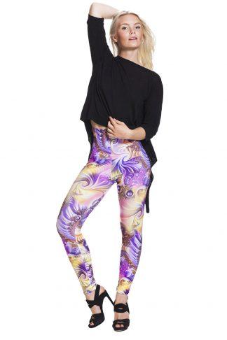 lila leggings med fri frakt !