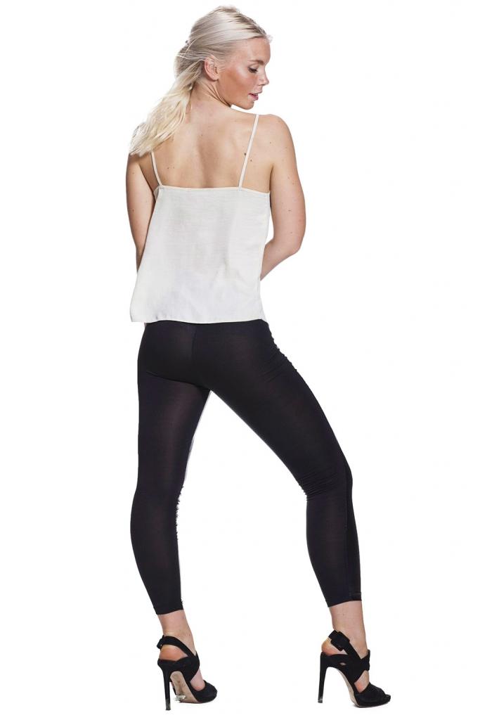 Svarta leggings i läder imitation fraktfritt online !