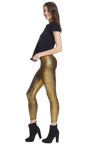 Leggings i skinande guld - fraktfritt och bra pris billigt online !