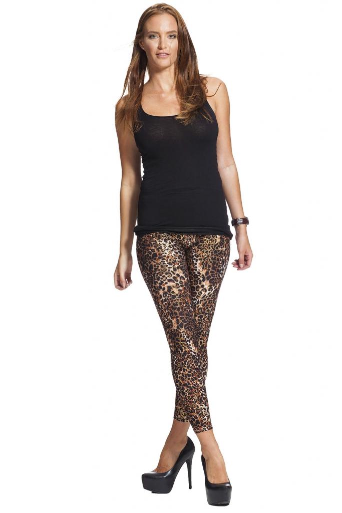 Leggings med leopard