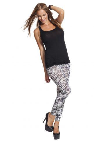 snygga randiga svartvita leggings online