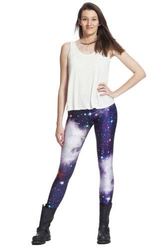 Sköna galaxy leggings online med fri frakt !
