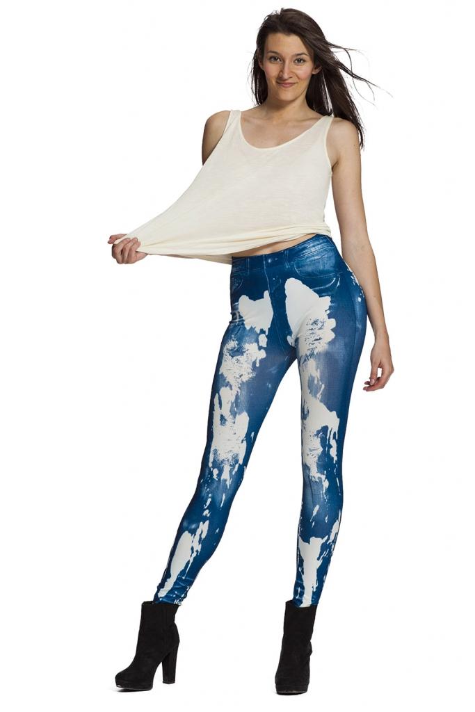 Snygga jeansleggings och jeggings med fri frakt online !