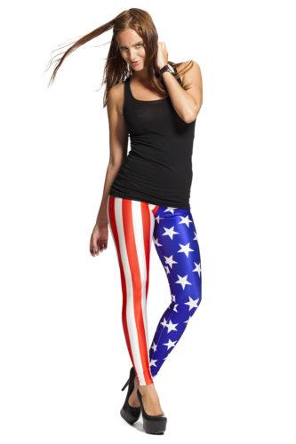 Leggings med Amerikanska flaggan - fri frakt hos LeggingStore.se online !