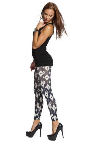 Svartvita leggings med grafiskt mönster online !