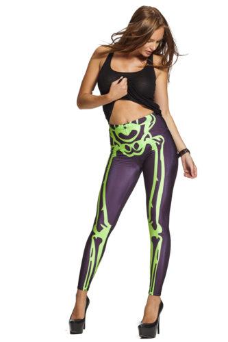 Grönt skelett leggings online !