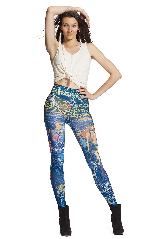 Snygga jeansleggings online !