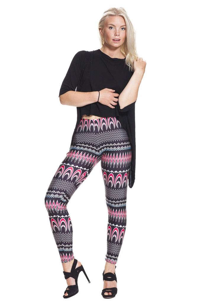 Grafiska leggings och tights online - fri frakt !