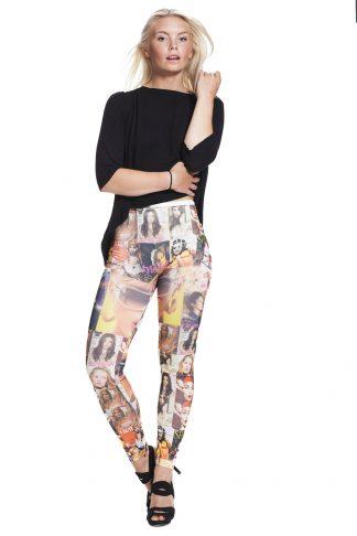 läckra leggings med porträtt - fri frakt online !