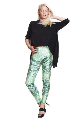 Leggings med dollar - fraktfritt !