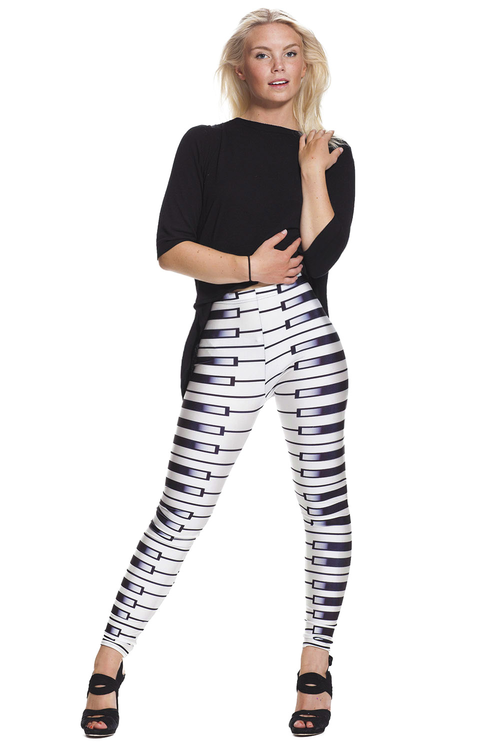 Piano leggings med fri frakt online hos LeggingStore.se !
