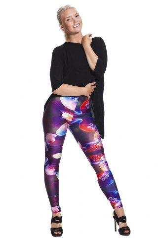 Leggings med fantastiska färgglada maneter fraktfritt online !