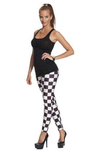 Snygga svartvita leggings online med fri frakt !