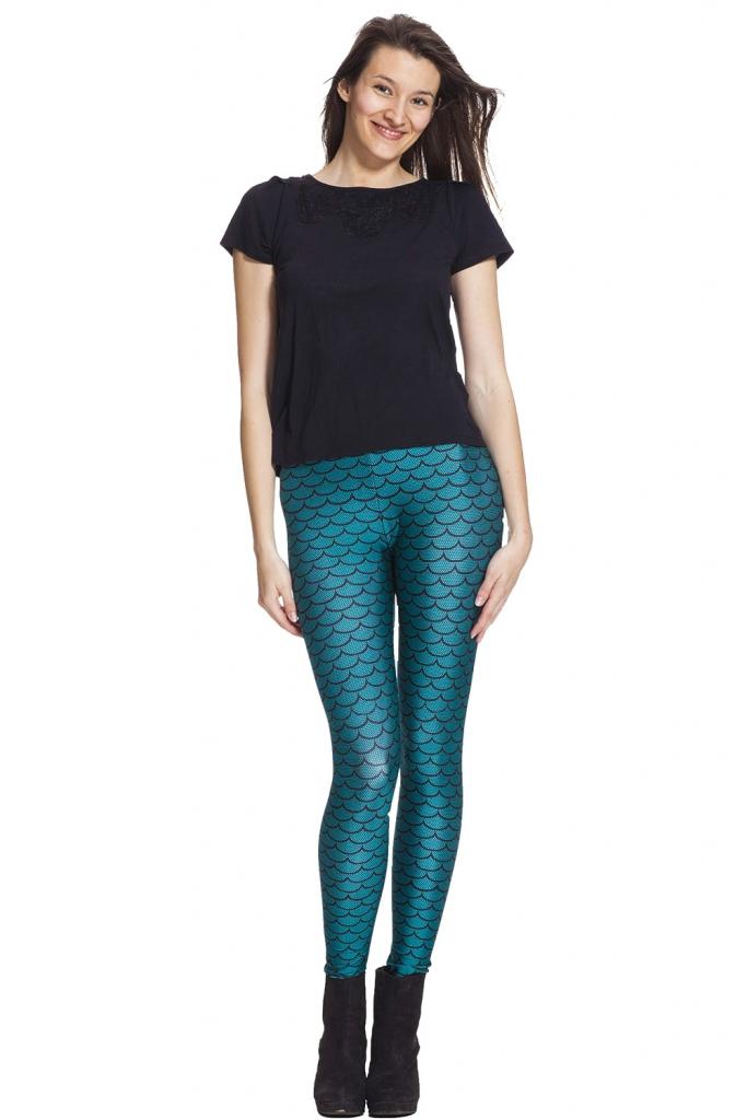 Sjöjungfru leggings online till bra pris och med fri frakt !