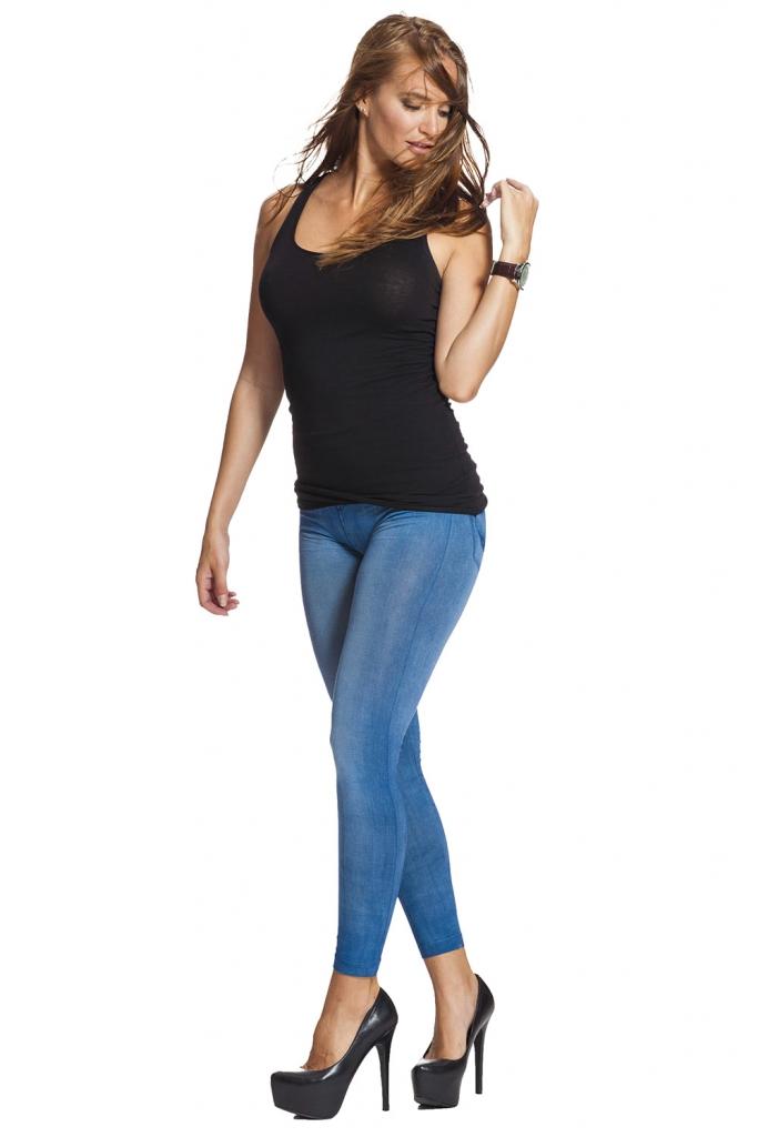Jeansleggings och jeggings med fri frakt online !