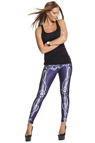 Skelett leggings xray online fri frakt