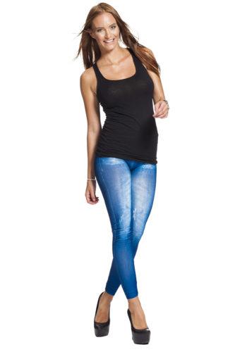 Snygga jeansleggings jeggings fri frakt fraktfritt online webshop