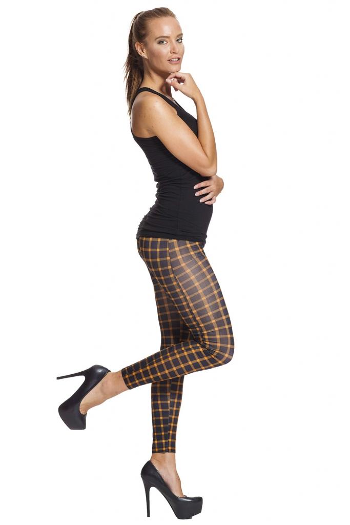 rutiga leggings med fri frakt online