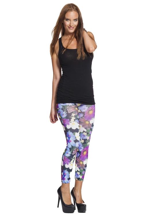Blommiga leggings och tights online fraktfritt