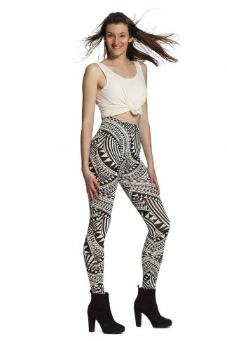 Leggings med grafiskt mönster - fraktfritt online !