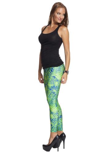 Gröna snygga leggings till bra pris och fri frakt online !