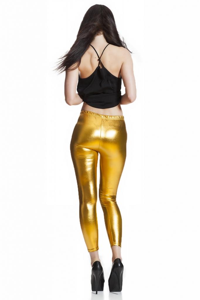 Festliga leggings i guld fri frakt online !