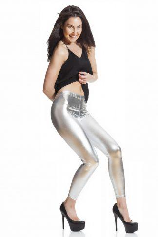 Silvriga leggings fraktfritt online