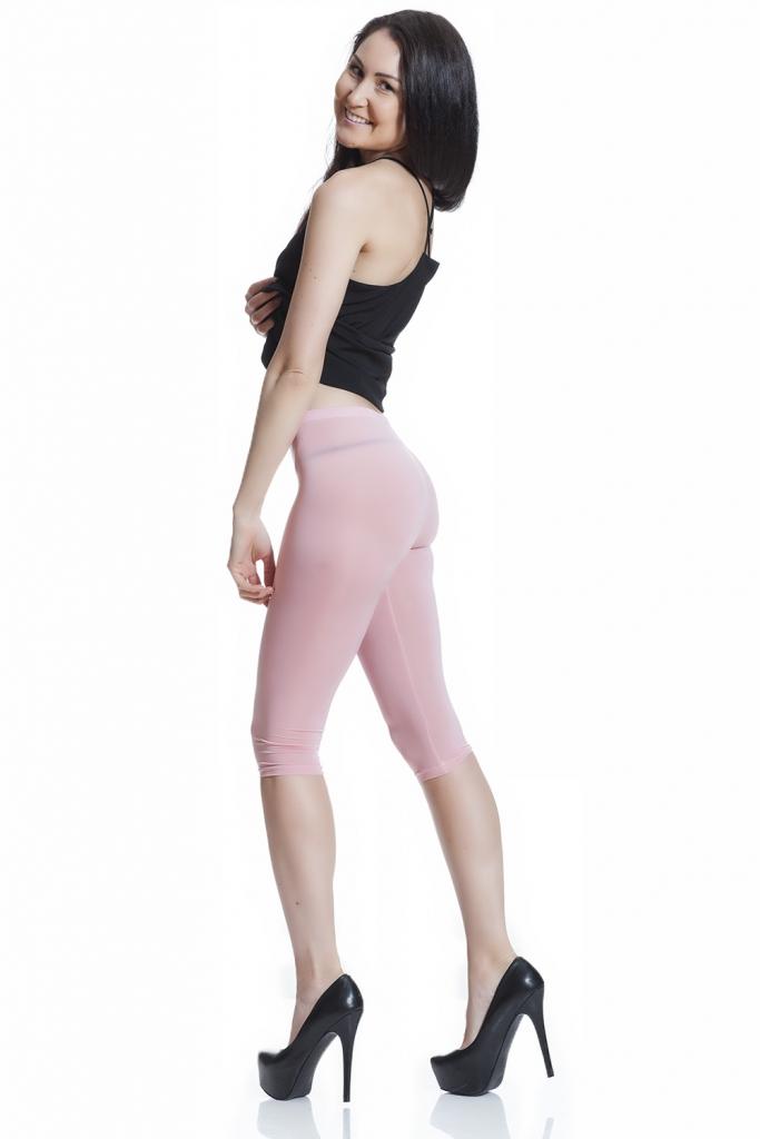Rosa capri leggings för sommaren med fri frakt online