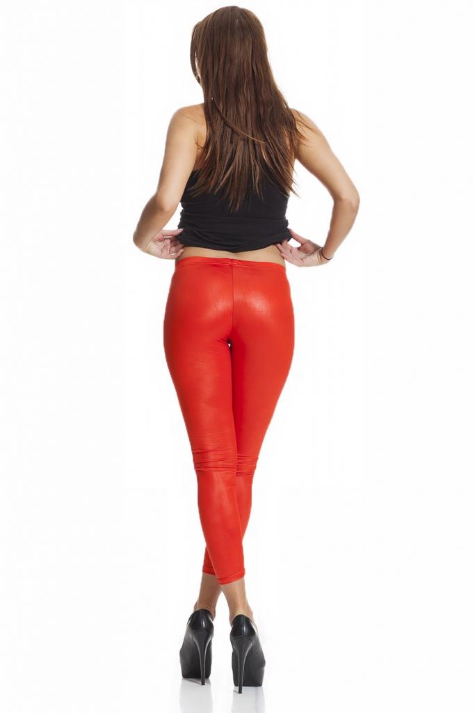 röda faux leather läderimitation leggings fraktfritt online