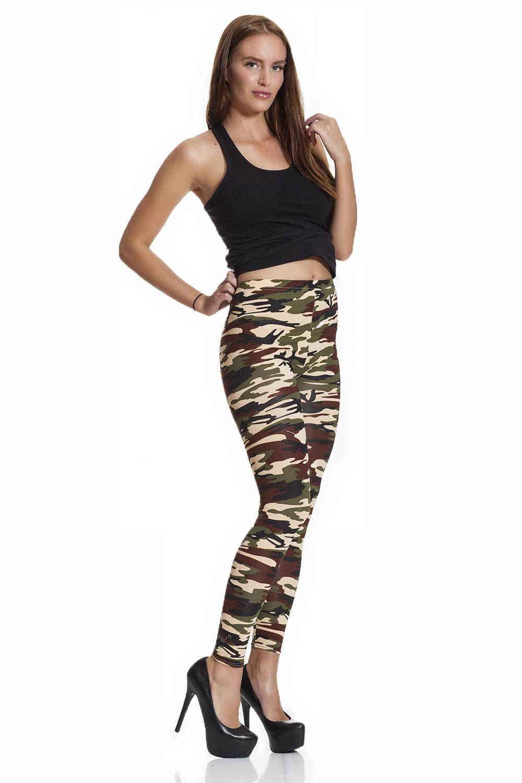 Army cammo camouflage leggings fraktfritt online
