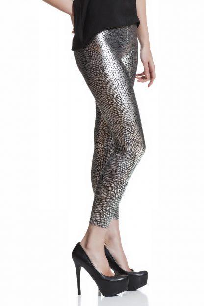 silvriga leggings online med fri frakt