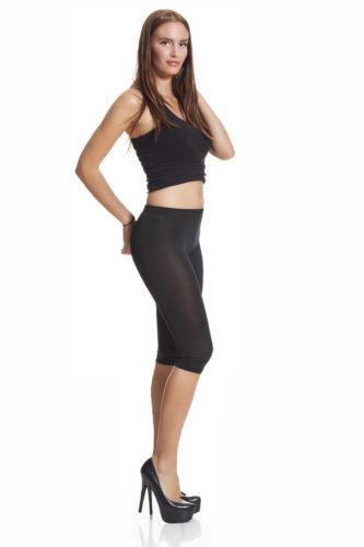 Svarta capri leggings online fraktfritt
