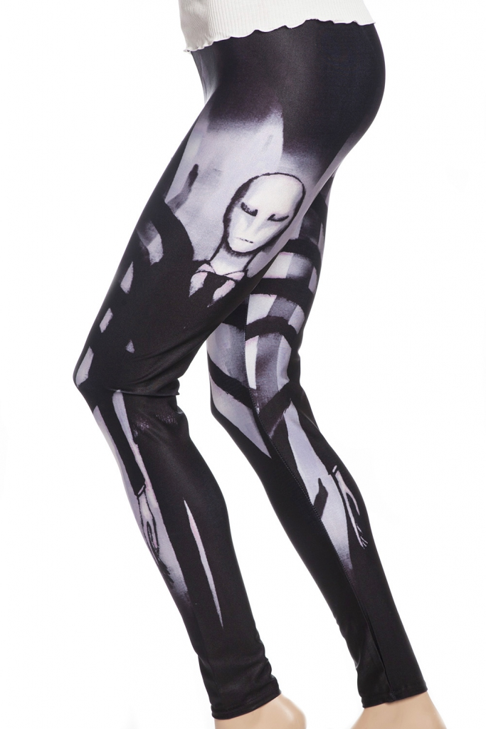 vita leggings tights med röntgen skelett spöken sverige