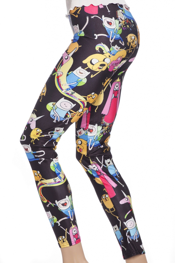 Svarta roliga leggings tights med tecknade serifigurer online sverige