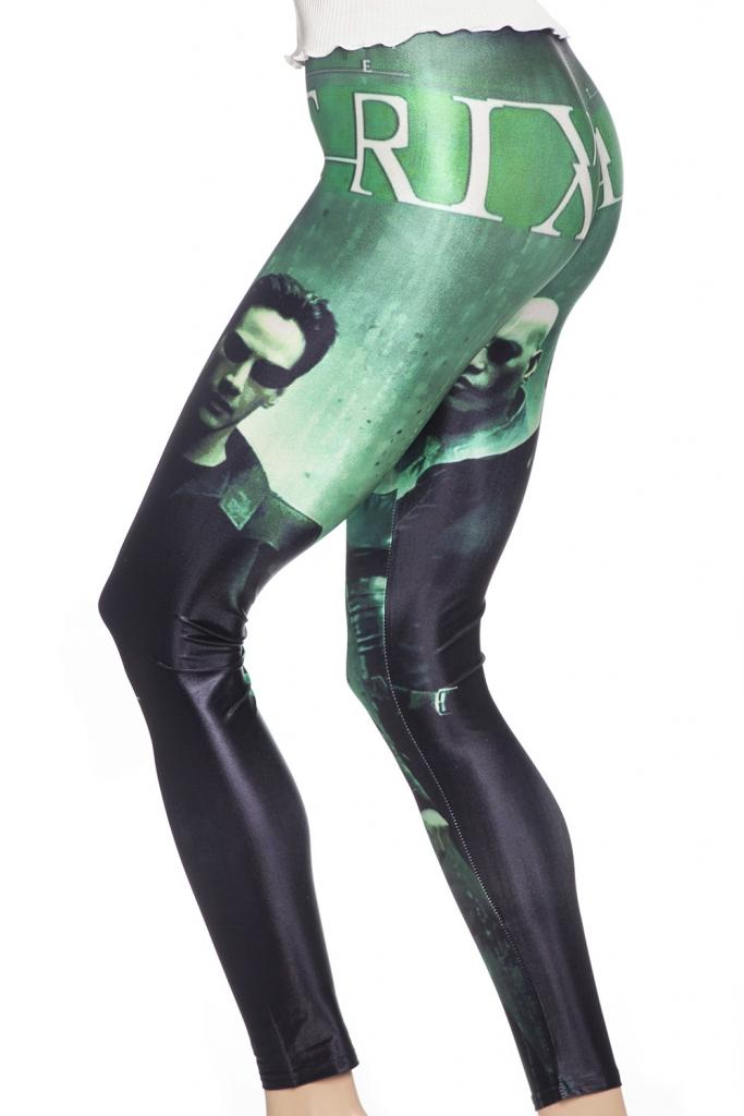 leggings tights med motiv från filmen matrix