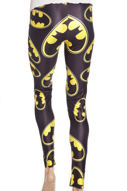 Svarta tights leggings med motiv från Batman