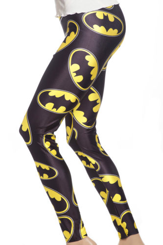 Svarta tights leggings med motiv från Batman