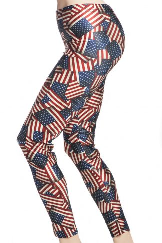 tights och leggings med usa's flagga online sverige webshop