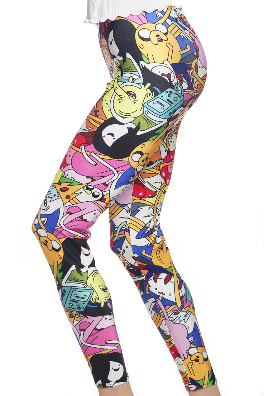 Leggings och tights med mönster av Adventure Time tecknade serier