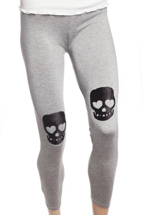 grå tights leggings med svarta dödskallar sverige