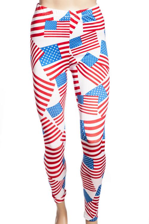 tights och leggings med usa's flagga online sverige webshop